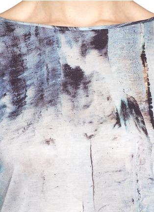 Detail View - Click To Enlarge - Helmut Lang - Tidal print cowl back T-shirt