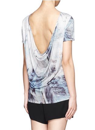 Back View - Click To Enlarge - Helmut Lang - Tidal print cowl back T-shirt
