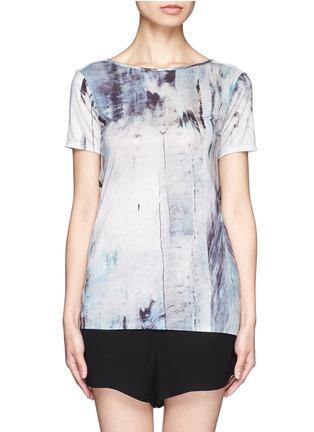 Main View - Click To Enlarge - Helmut Lang - Tidal print cowl back T-shirt