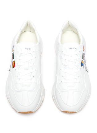 Detail View - Click To Enlarge - GUCCI - 'Rhyton worldwide' graphic print oversize leather sneakers