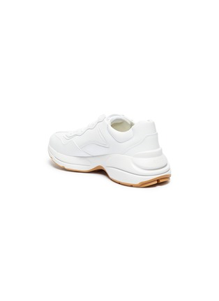 - GUCCI - 'Rhyton worldwide' graphic print oversize leather sneakers