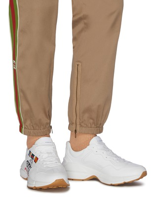 Figure View - Click To Enlarge - GUCCI - 'Rhyton worldwide' graphic print oversize leather sneakers