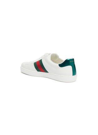 - GUCCI - 'New Ace' slogan embroidered contrast counter sneakers