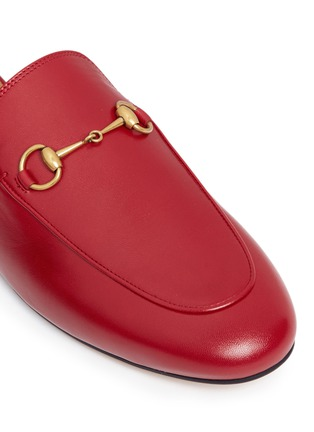 Detail View - Click To Enlarge - Gucci - Horsebit vamp leather slide loafers