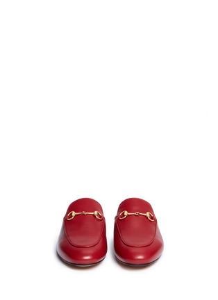 Front View - Click To Enlarge - Gucci - Horsebit vamp leather slide loafers