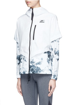 Front View - Click To Enlarge - Nike - 'Nike International Windrunner' foldable aerial print jacket
