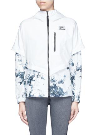 Main View - Click To Enlarge - Nike - 'Nike International Windrunner' foldable aerial print jacket