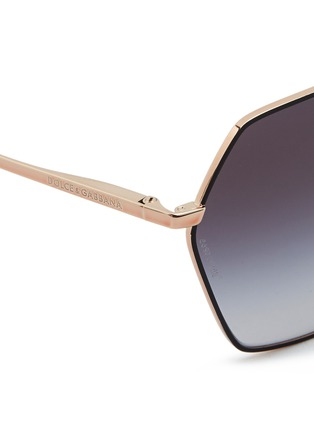Detail View - Click To Enlarge - Dolce & Gabbana - Metal rim hexagonal sunglasses