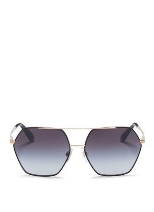 Main View - Click To Enlarge - Dolce & Gabbana - Metal rim hexagonal sunglasses