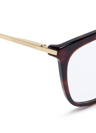 Detail View - Click To Enlarge - Dolce & Gabbana - Metal temple tortoishell acetate optical glasses