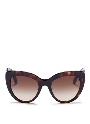 Main View - Click To Enlarge - - - Logo temple acetate cat eye sunglasses