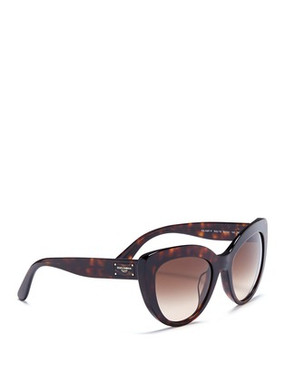 Figure View - Click To Enlarge - - - Logo temple acetate cat eye sunglasses