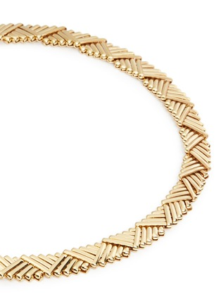 Detail View - Click To Enlarge - Philippe Audibert - 'Natte' chevron bar chain necklace