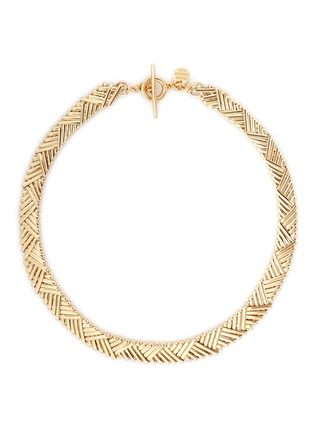 Main View - Click To Enlarge - Philippe Audibert - 'Natte' chevron bar chain necklace