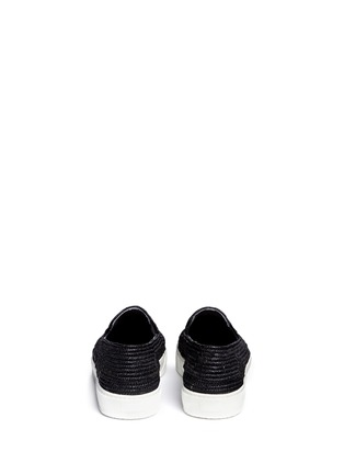Back View - Click To Enlarge - Robert Clergerie - 'Tribal' Raffia palm espadrille slip-ons