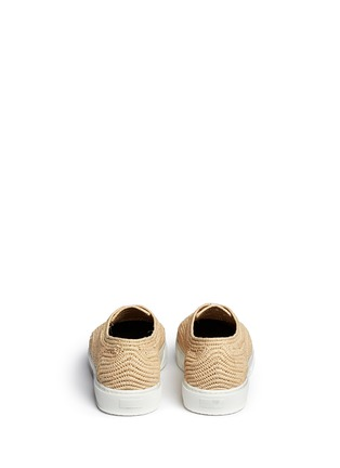 Back View - Click To Enlarge - Robert Clergerie - 'Teba' Raffia palm espadrille sneakers