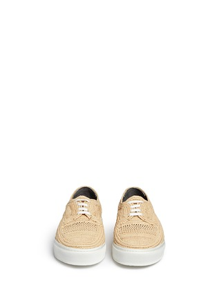 Front View - Click To Enlarge - Robert Clergerie - 'Teba' Raffia palm espadrille sneakers