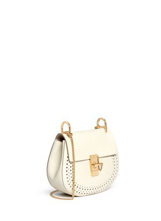 Figure View - Click To Enlarge - Chloé - 'Drew' small perforated leather shoulder bag