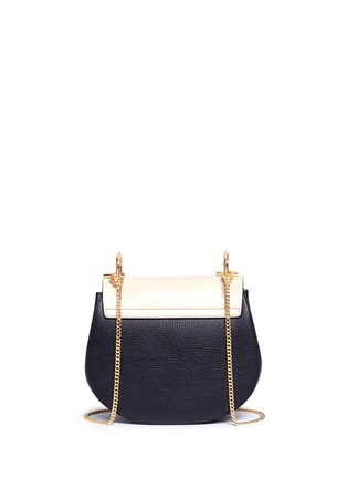 Back View - Click To Enlarge - Chloé - 'Drew' small colourblock leather shoulder bag