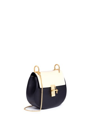 Figure View - Click To Enlarge - Chloé - 'Drew' small colourblock leather shoulder bag