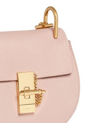 Detail View - Click To Enlarge - Chloé - 'Drew' mini grainy leather shoulder bag