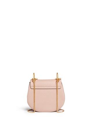Back View - Click To Enlarge - Chloé - 'Drew' mini grainy leather shoulder bag