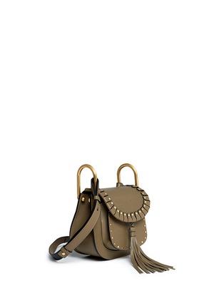 Figure View - Click To Enlarge - CHLOÉ - 'Hudson' mini rivet folded trim leather saddle bag