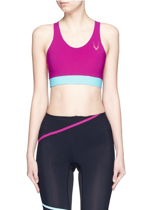 Main View - Click To Enlarge - Lucas Hugh - 'Colour Bolt' sports bra
