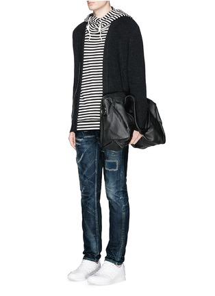 Front View - Click To Enlarge - DENHAM - Razor JABL' distressed jeans