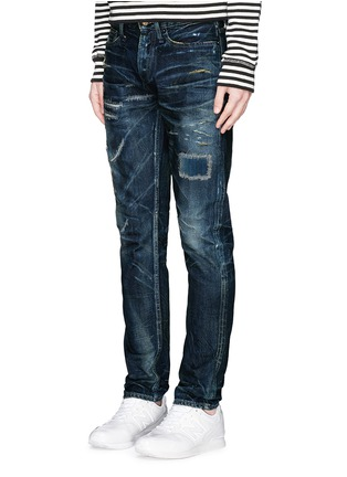 Figure View - Click To Enlarge - DENHAM - Razor JABL' distressed jeans