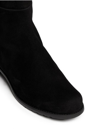 Detail View - Click To Enlarge - Stuart Weitzman - '5050' elastic back suede boots