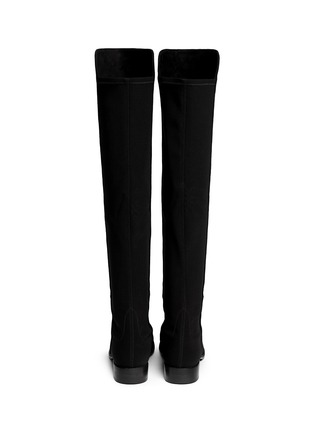 Back View - Click To Enlarge - STUART WEITZMAN - '5050' elastic back suede boots
