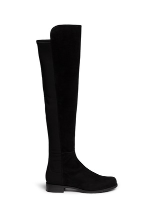 Main View - Click To Enlarge - STUART WEITZMAN - '5050' elastic back suede boots