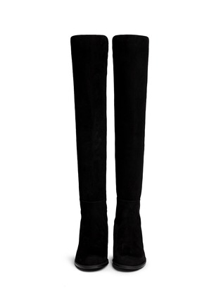 Figure View - Click To Enlarge - STUART WEITZMAN - '5050' elastic back suede boots