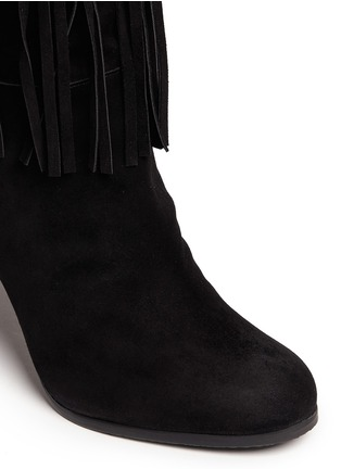 Detail View - Click To Enlarge - Stuart Weitzman - 'Fringie' knee high fringe suede boots
