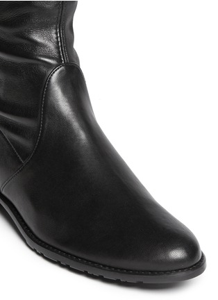 Detail View - Click To Enlarge - Stuart Weitzman - 'Lowland' stretch leather thigh high boots