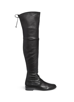 Main View - Click To Enlarge - Stuart Weitzman - 'Lowland' stretch leather thigh high boots