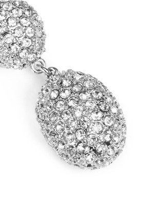Detail View - Click To Enlarge - Kenneth Jay Lane - Crystal pavé oval drop clip earrings
