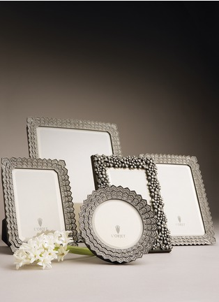 Figure View - Click To Enlarge - L'Objet - Deco Noir 4R photo frame