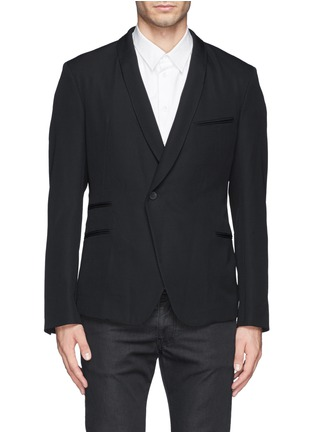 Main View - Click To Enlarge - Haider Ackermann - Double breasted shawl collar blazer