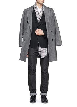 Figure View - Click To Enlarge - Haider Ackermann - Double breasted shawl collar blazer