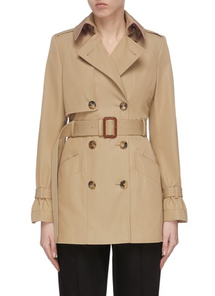 Main View - Click To Enlarge - ALEXANDER MCQUEEN - Belted trench jacket