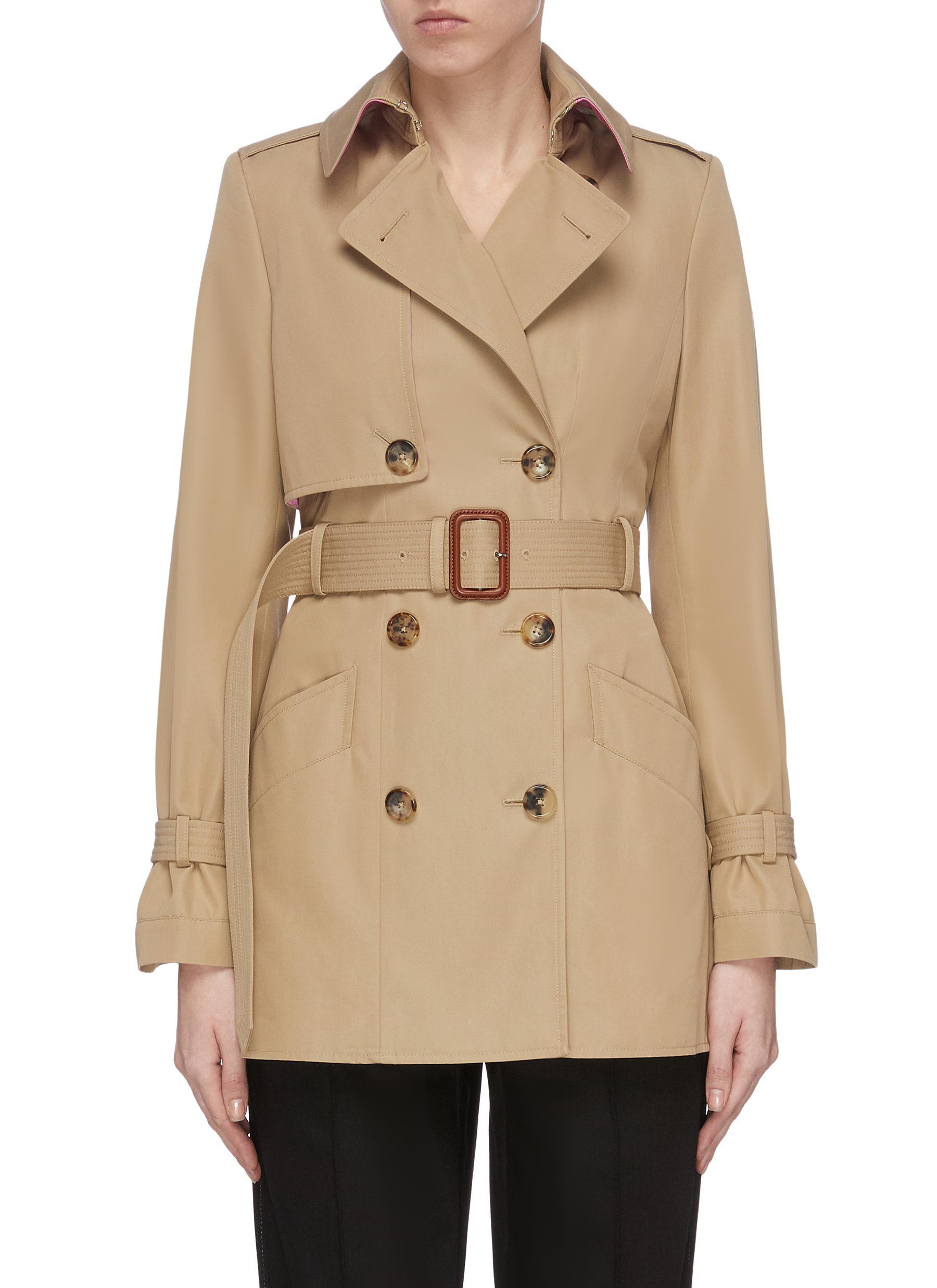 shop Alexander Mcqueen Belted trench jacket online