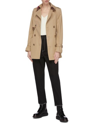 Figure View - Click To Enlarge - ALEXANDER MCQUEEN - Belted trench jacket