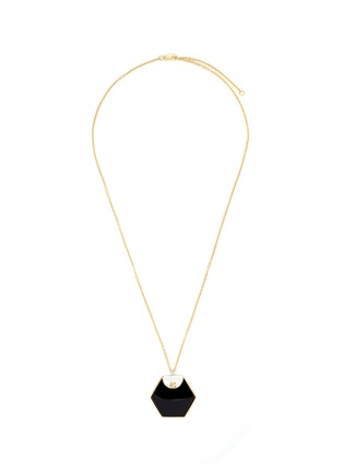 Main View - Click To Enlarge - W.Britt - 'Hexagon' 18k gold onyx pendant necklace