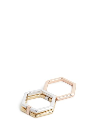 Detail View - Click To Enlarge - W. BRITT - '4 Ways' 18k yellow and rose gold convertible ring
