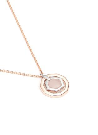 Detail View - Click To Enlarge - W.Britt - 'Mini Decagon' rose quartz pendant necklace