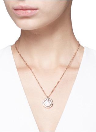 Figure View - Click To Enlarge - W.Britt - 'Mini Decagon' rose quartz pendant necklace