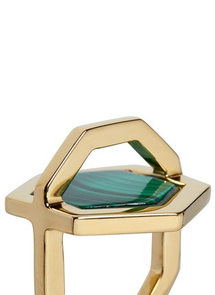 Detail View - Click To Enlarge - W.Britt - 'Hexagon' inset malachite ring