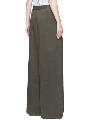 Back View - Click To Enlarge - Dries Van Noten - 'Pamplona' pleat brushed twill wide leg pants